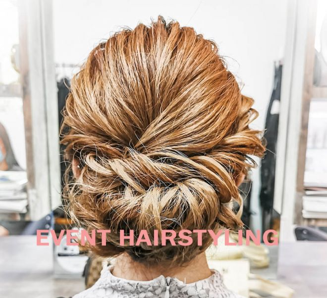 Modern hairstyling for Event