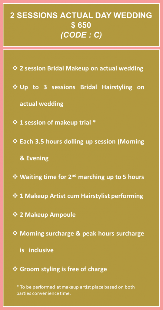 Bridal Makeup Rates C